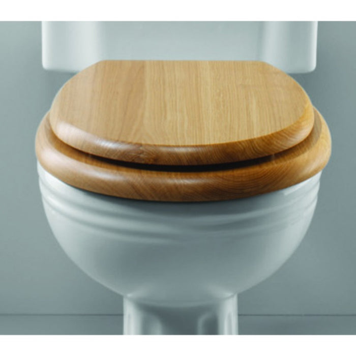 Silverdale Wooden Toilet Seat for Close Coupled/Wall Mounted Toilet