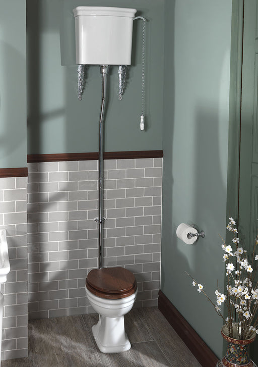 Silverdale Loxley White High Level Cistern & Fittings