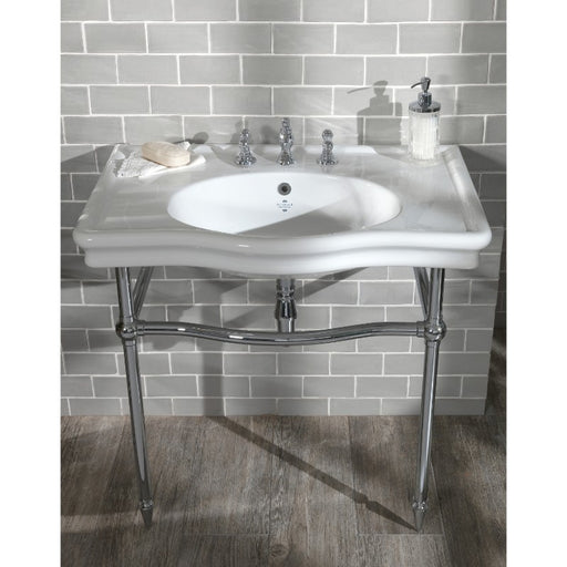 Silverdale Loxley Traditional Basin Stand - Chrome