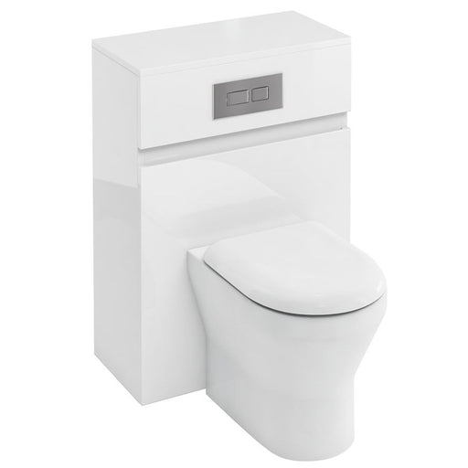 Aqua Cabinets Compact Fitted WC Unit with Flush Plate for Back to Wall WC