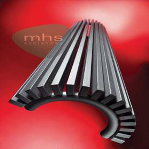 MHS Zana Semi Round Steel Vertical Designer Radiators 1800mm x 393mm