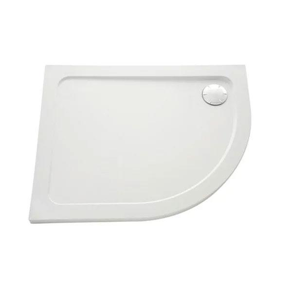 Mira Flight Low Offset Quadrant Shower Tray And Waste - Flat Top - White