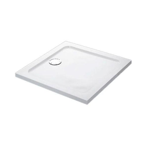 Mira Flight Low Square Shower Tray And Waste - White