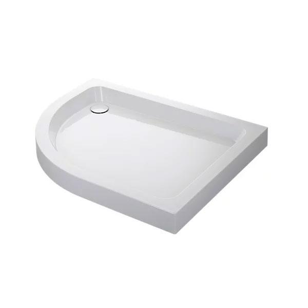 Mira Flight Offset Quadrant Shower Tray And Waste - White