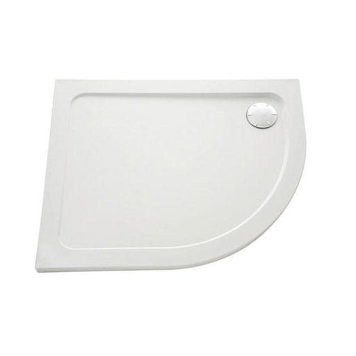 Mira Flight Safe Offset Quadrant Shower Tray And Waste - Flat Top - White