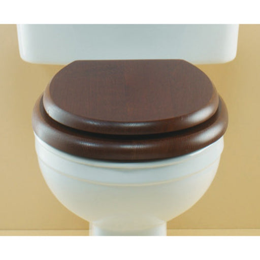 Silverdale Soft Close Wooden Toilet Seat for Close Coupled/Back To Toilet