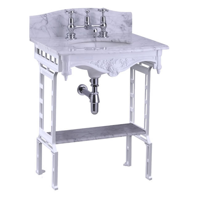 Burlington Cararra Marble Washstand shelf