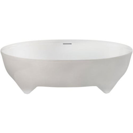 Clearwater Vigore Bath 170 x 55.5h x 75cm - Natural Stone