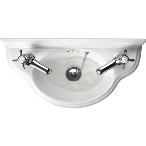 Burlington Curved Cloakroom Basin 50.5 x 25.5cm. - White