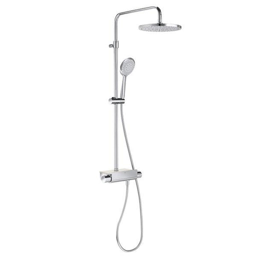 Roca Deck Bar Shower Mixer with Shower Kit + Fixed Head