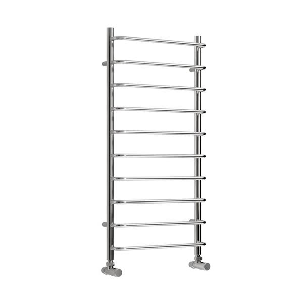 Reina Aliano Vertical Designer Towel Rail - Chrome