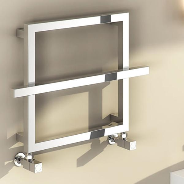 Reina Lago-2 Vertical Designer Towel Rail - 450mm x 600mm - Chrome