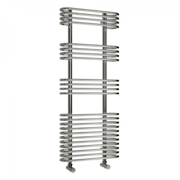 Reina Mirus Vertical Designer Towel Rail - Chrome
