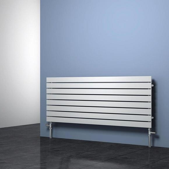 Reina Rione Panel Horizontal Designer Radiator - White