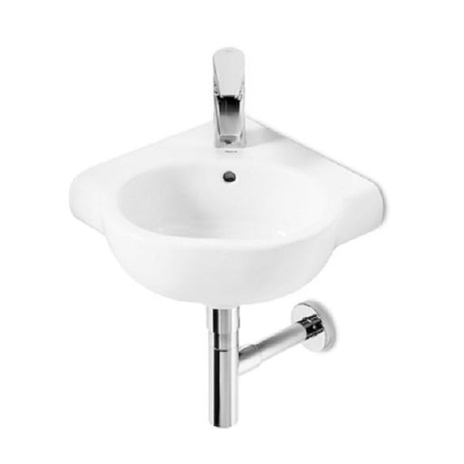 Roca Meridian-N Corner Basin - 350mm - 1 Tap Hole - White