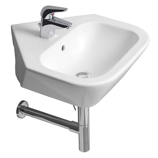 Roca Nexo Corner Basin - 500mm - 1 Tap Hole - White