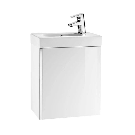 Roca Mini 1-Door Wall Hung Vanity Unit With Basin - 1 RH Tap Hole