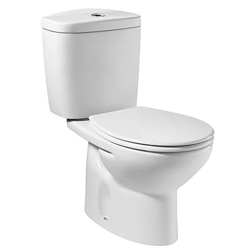 Roca Valor Close Coupled Toilet With Dual Flush Cistern - Soft Close Seat - White