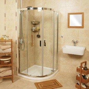 Roman Embrace Quadrant Twin Door Offset Shower Enclosure