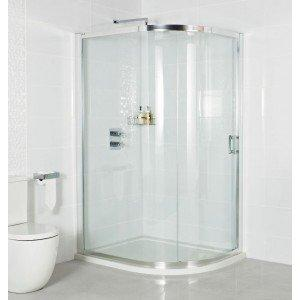 Roman Embrace One Door Offset Quadrant Shower Door