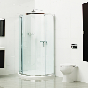 Roman Lumin8 Bow Fronted Offset Quadrant Shower Enclosure 1000 x 1200mm