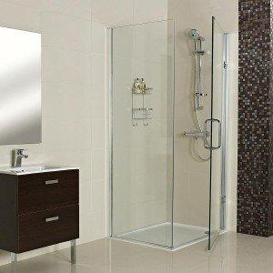 Roman Decem Hinged Corner Shower Enclosure with Square Hardware