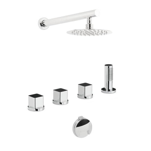 Abode Rapture / Fervour Thermostatic Bath Overflow Filler Kit with Handshower & Shower - Chrome