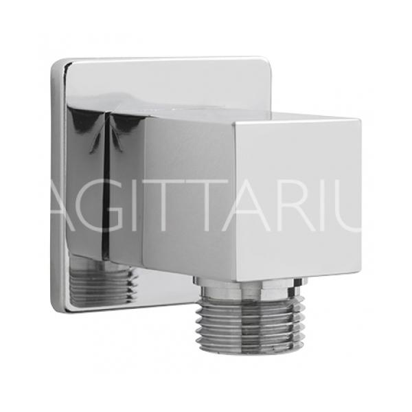 Sagittarius Cube Wall Outlet - Chrome