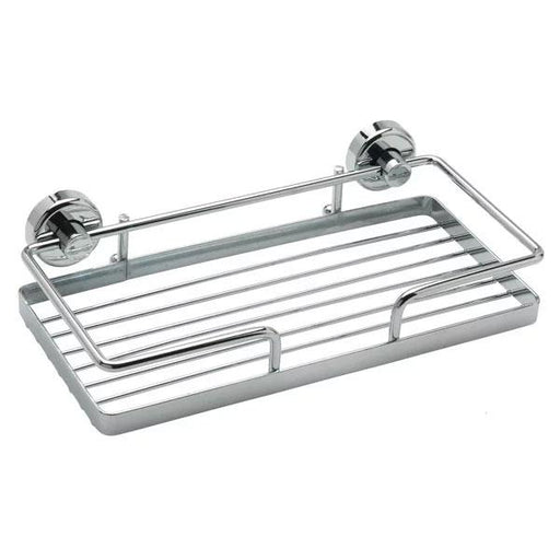 Sagittarius Rectangular Wall Shower Basket - 260mm Wide - Chrome