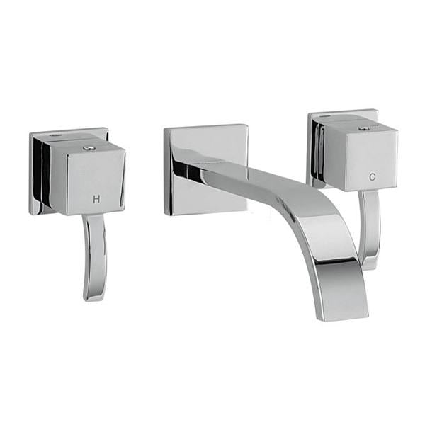Sagittarius Arke Wall Mounted Bath Filler Tap - 3 Tap Hole - Chrome