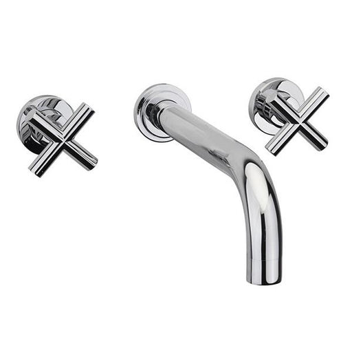 Sagittarius Avant Wall Mounted Bath Filler Tap - 3 Tap Hole - Chrome