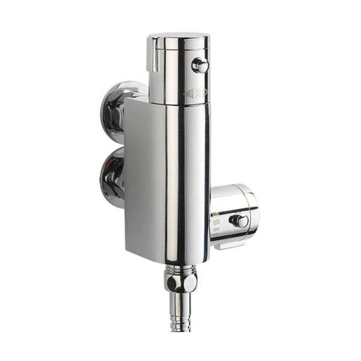 Sagittarius Logic Exposed Vertical Thermostatic Shower Valve - Chrome