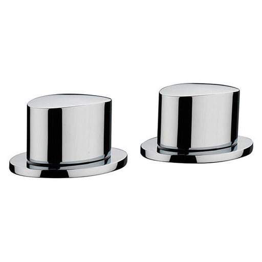 Sagittarius Oveta Deck Mounted Shower Side Valves - Pair - Chrome