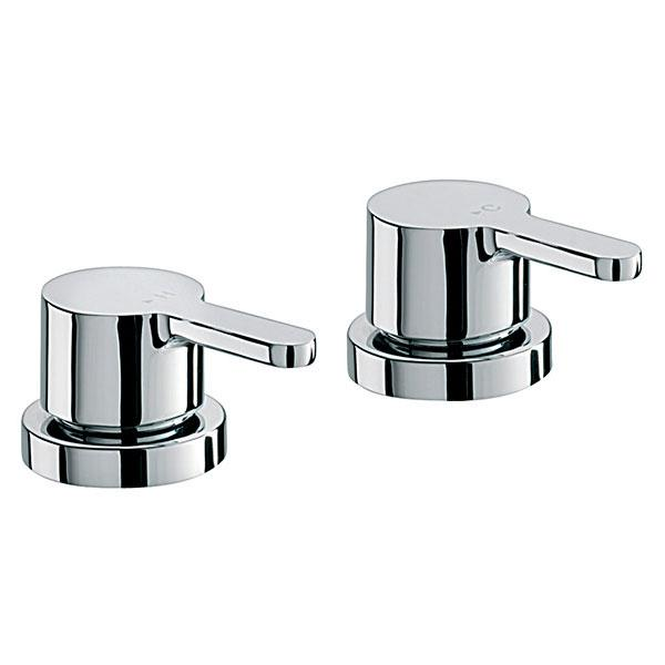 Sagittarius Plaza Deck Mounted Shower Side Valves - Pair - Chrome