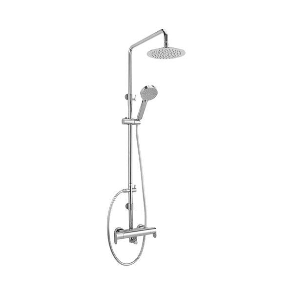 Sagittarius Plaza Exposed Thermostatic Complete Mixer Shower - Chrome