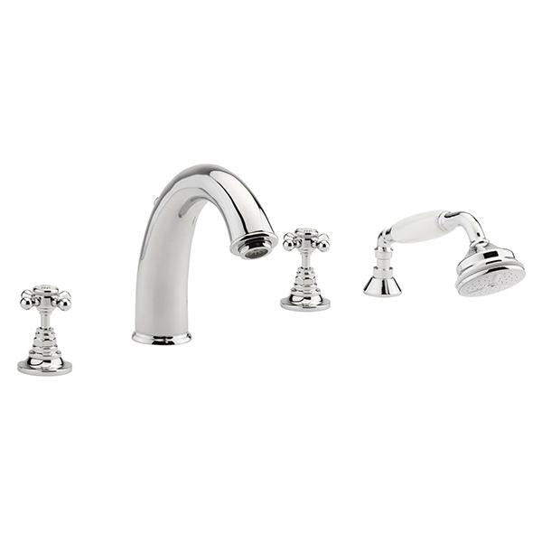 Sagittarius Butler Bath Shower Mixer Tap - 4 Tap Hole - Chrome