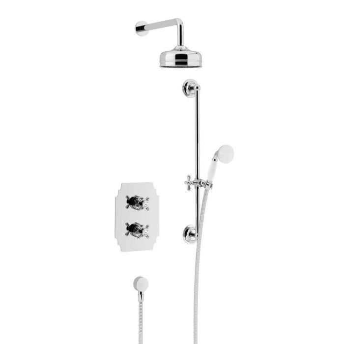 Heritage Hartlebury Recessed Shower with Premium Fixed Head and Flexible Riser Kits