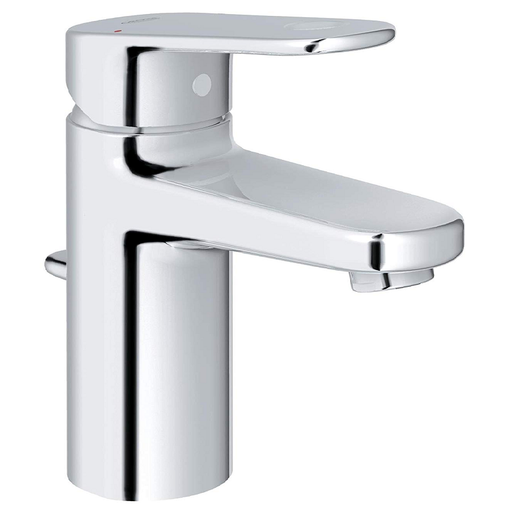 Grohe Europlus Deck Mounted Basin Mixer Tap With Pop Up Waste - Chrome