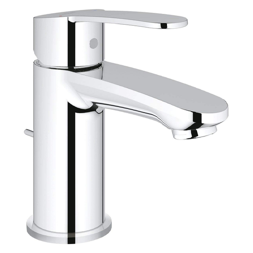 Grohe Euro style Cosmopolitan Deck Mounted Single Lever Mono Basin Mixer Tap With Pop-Up Waste - Chrome