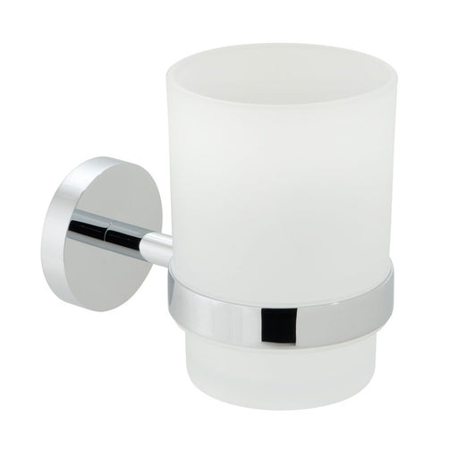 Vado Spa Frosted Glass Tumbler And Holder Wall Mounted