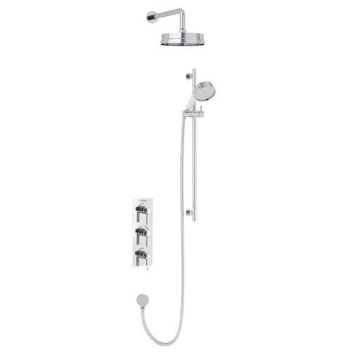 Heritage Somersby Recessed Shower with Deluxe Fixed Head and Flexible Riser Kit Chrome