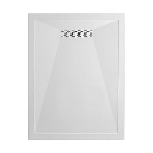 Crosswater Rectangular 25mm Stone Resin Shower Tray with Linear Waste