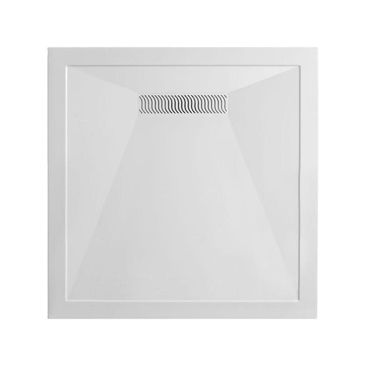 Crosswater Square 25mm Stone Resin Shower Tray with Linear Waste