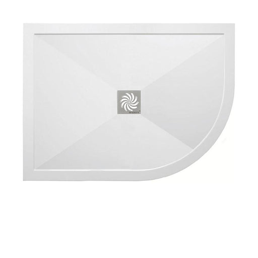 Crosswater Offset Quadrant 25mm Stone Resin Shower Tray & Waste