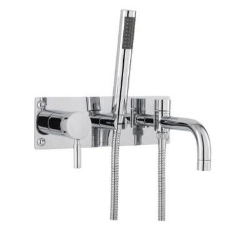 Hudson Reed TEC Lever Wall Mounted Bath Shower Mixer With shower kit