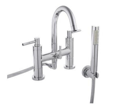 Hudson Reed TEC Lever Bath Shower Mixer With swivel spout, shower kit and wall bracket