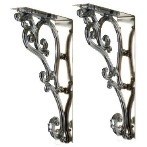 Burlington Ornate Brackets 4 x 23.2h x 15.4cm - Chrome