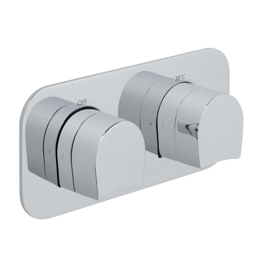Vado Kovera 2 Outlet, 2 Handle Thermostatic Valve with All-Flow Function