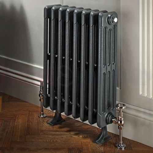 TRC Bianco Traditional Cast Iron 4 Column Radiator - Primer