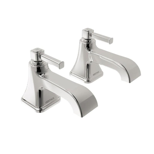 Heritage Somersby Bath Pillar Taps Chrome